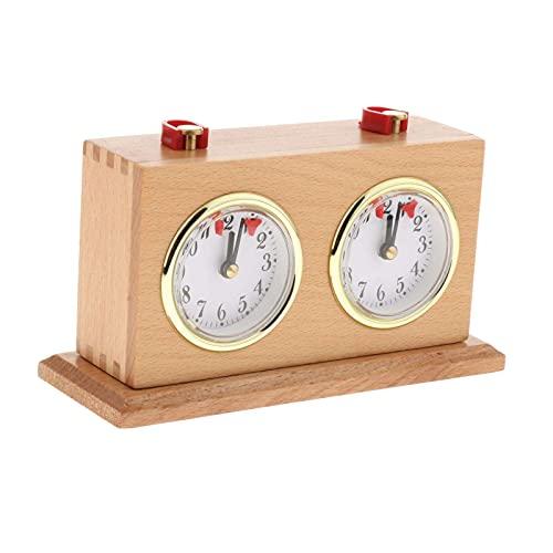 Generic Retro Legierung Tragbare Schach Uhr Timer Count up down Mechanische Schach Timer Einfach zu Lesen Dials, Keine Batterie Erforderlich