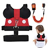 Accmor 3 in 1 Toddler Safety Harness Leash, Cute Child Safety Harness + Baby Anti Lost Tether Strap + Wrist Link, Kid Walking Belt for 1-5 Years Boys and Girls to Zoo or Mall