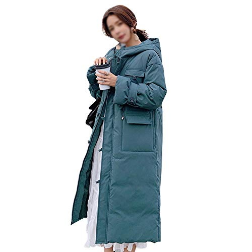 DRT zachte dikke kap los knie lengte dikke jas jassen
