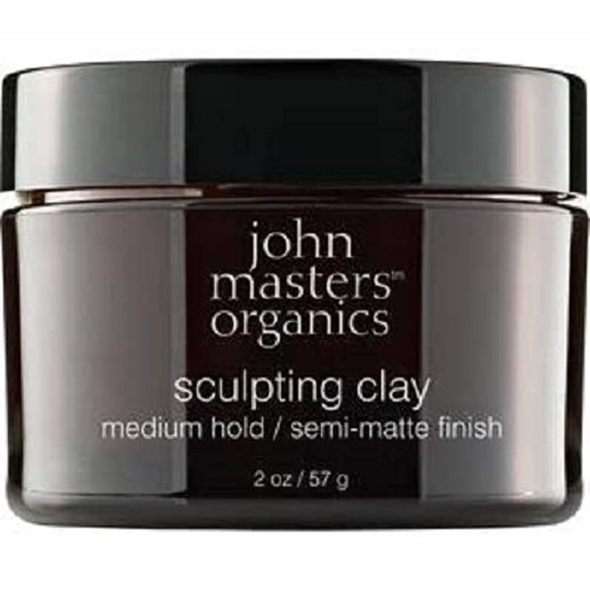 ラッカスマザーランド作り上げるJohn Masters Organics Sculpting Clay medium hold / semi-matt finish 2 OZ,57 g