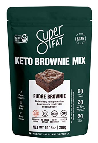 Keto Brownie Mix- Low Carb Fudge Brownie Baking Mix- Keto Friendly, Gluten-free, Paleo, Diabetic, No Sugar Added Keto Desserts Sweet & Treats