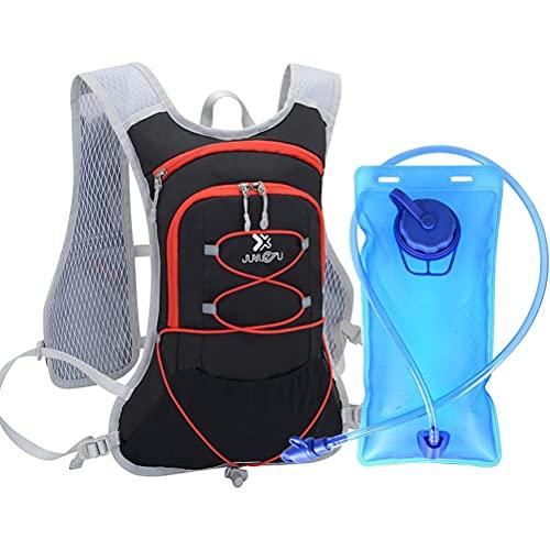 BTSEURY Mochila de hidratación al Aire Libre con vejiga 2L de Agua para el alojamiento al Aire Libre Que Corre el Ciclismo Que acampa los Deportes