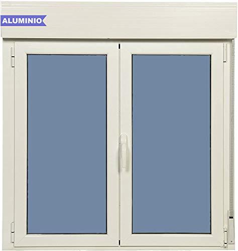 Ventanastock Ventana Aluminio Practicable Oscilobatiente Con Persiana PVC 1200 Ancho x 1355 Alto 2 hojas