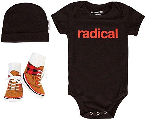 Trumpette Kids Radical Geschenkset, Rot/Schwarz, 6-12 Monate