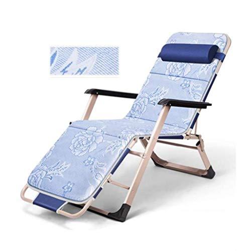 WSDSX Silla Plegable reclinable Silla reclinable de Gravedad Cero para Exteriores, Cama Plegable de Oficina Perezosa, sillón de terraza para jardín, Patio, balcón, Ajuste de Respaldo de 45 & d