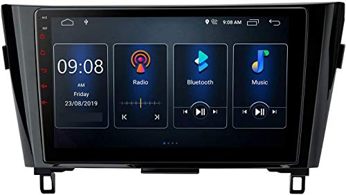 Compatible Para Nissan X-Trail Qashqai Android 10.0 SAT NAV FM Radio Receptor Doble Din Auto Audio Player Coche Estéreo 10.1 Pulgadas Pantalla Táctil LCD Monitor GPS Navegación,4 core 4G+WiFi 2+32GB