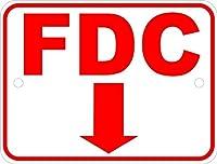 165新しいブリキサインFDC消防署と下矢印。アルミニウム金属道路標識壁装飾8x12インチ