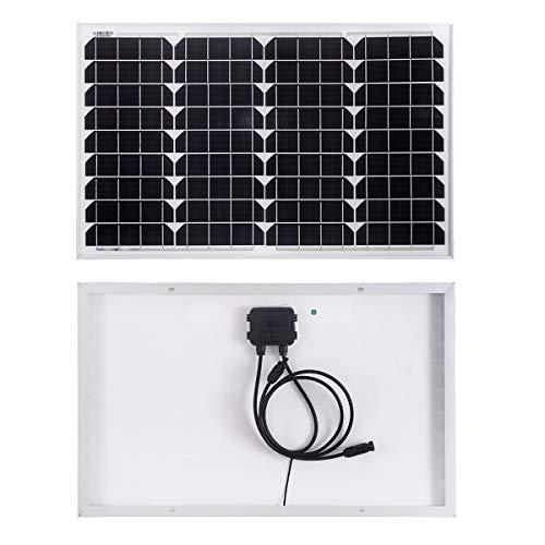 SARONIC 40W 12Volt Solarmodul Monokristallines Solarpanel mit Ideal zum Aufladen von 12V Batterien Wohnmobil Boot