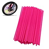 72Pcs/Lot Spoke Skin Covers, DIXIUZA Universal Protective Wheel Coil Wraps for Motorcycle Off-road SUV Bicycle (Pink)