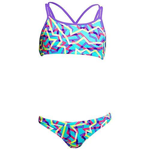 Funkita Bikini Mädchen Criss Cross (Mint Strips, 164)