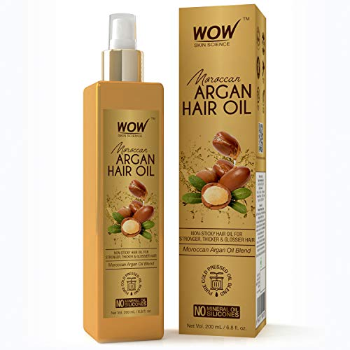 WOW Pure Cold Pressed Moroccan Argan Hair Oil No Mineral O