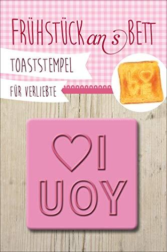 Toaststempel für Verliebte: I Love You
