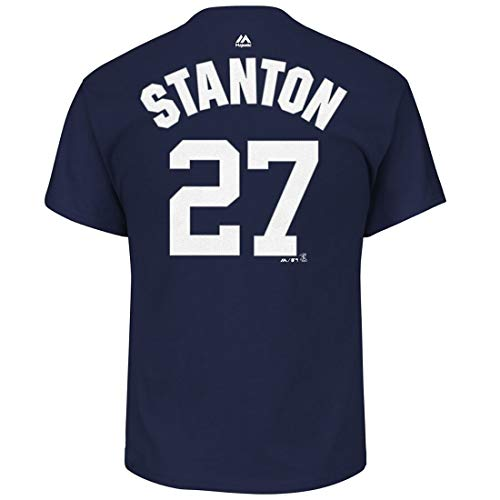 Giancarlo Stanton New York Yankees #27 Youth Player Name & Number T-Shirt (Youth X-Large 18) Navy