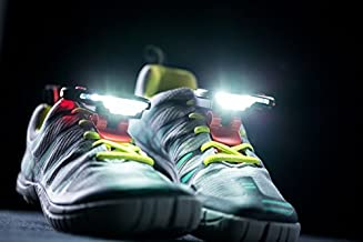 Night Runner 270 Shoe Lights - Rechargeable & Waterproof Battery Light for Runners, Dog Walking, Hiking - Best Safety Running Gear for High Visibility at Night Time or Low Light - Red