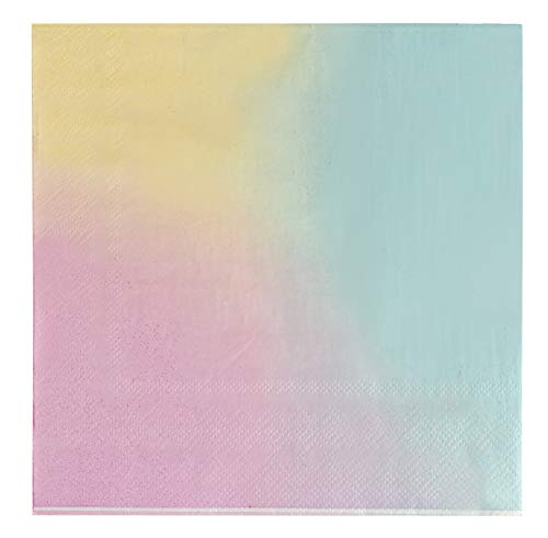 Paper Napkins for Rainbow Birthday Party (6.5 x 6.5 Inches, 150 Pack)