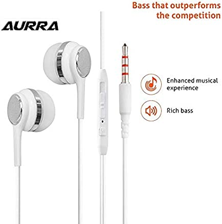 5d1480a8cbd877 Aurra in-Ear Earphone/Headphone Having 3.5 mm Jack, Soft Silicon Buds for
