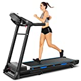 FUNMILY 2 in 1 Folding Treadmill for Home, 2.25HP Electric Under Desk Treadmill, Installation-Free with Bluetooth Speaker, Remote Control, LCD Display, Portable Walking & Running Machine (Gray)