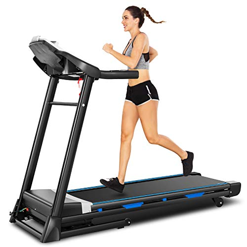FUNMILY Folding Treadmill with Automatic Incline, 300 lbs Weight Capacity, 3.25HP Electric Walking Running Treadmill Machine for Home Workout with Bluetooth Speaker, LCD Display