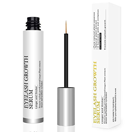 Eyelash Growth Serum,Natural Lash Eyebrow Boost Rapid Growth Enhancer for Longer,Thicker Lashes and Eyebrows Physician Developed & Hypoallergenic(5ml)