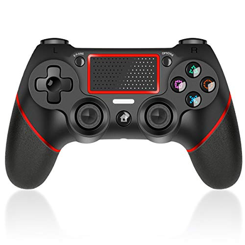 CHEREEKI Controller Touchpanel Double Shock Vibration Wireless Gamepad Rechargable Remote Controller mit Audiofunktionen Controller Joystick
