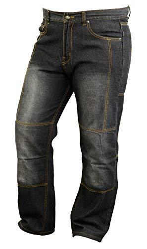 Moto Jeans Forrados en Kevlar con armaduras Resistentes a la abrasión, W34 L32