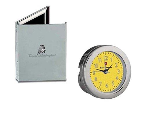 Ten Set 2 TLG. Fototisch und Uhr versilbert cod.ELSL 017 by Varotto & Co.