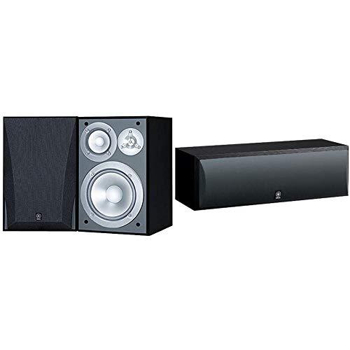 Yamaha NS-6490 3-Way Bookshelf Speakers Finish (Pair) Black Bundle with