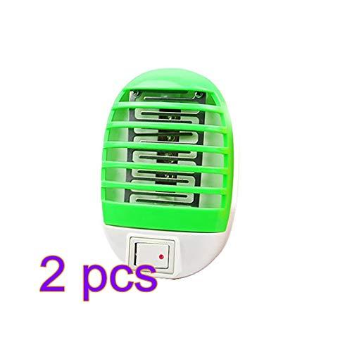 Lámpara de la Trampa Eléctrica UV del Fotocatalizador de la Luz LED de la Noche del Mosquito 2pc Mini
