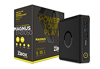 ZOTAC ZBOX-EN31050-U-W2B Magnus EN31050 Gaming Mini PC NVIDIA GeForce GTX 1050 Intel Core i3 8GB DDR4 120GB SSD 1TB HDD Win10