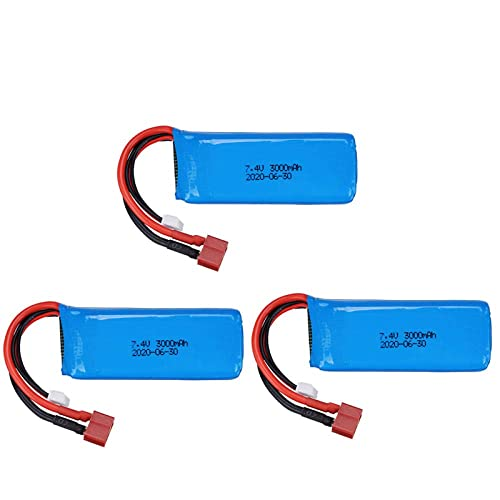 kusashangye Batteria di Ricambio RC 7. 4V 3000mAh 2S 20C Lipo Battery T per 144001 RC Toys Auto 7. 4V RC Toy Battery ( Color : 4pcs )