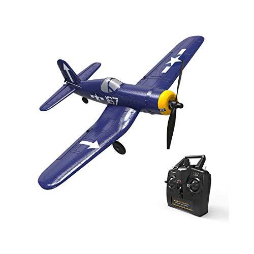 DAN DISCOUNTS Avión teledirigido F4U, 400 mm, juguete teledirigido de 2,4 GHz, 4 canales, avión teledirigido con Xpilot Gyro RC RTF para niños y adultos