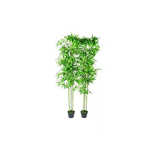 vidaXL 2X Bambous Artificiels Décor Intérieur Plante Bureau Salon Maison