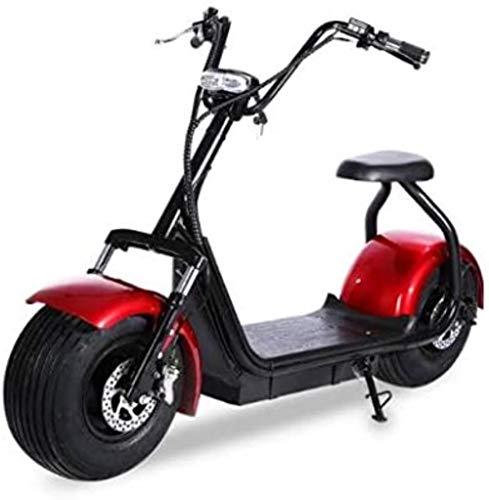 Woodtree Harley Scooter eléctrico for Adultos, la Motocicleta eléctrica LED Faro, 1500W60V, batería de Litio 28.6AH, Frenos EAB de Doble Disco, a 120 kilómetros de Vida/H, Nombre de Color: A10