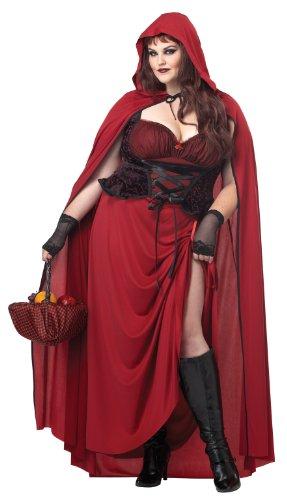 Costume Halloween /Carnevale Cappuccetto Rosso Dark fiaba Dark sexy donna 3XL