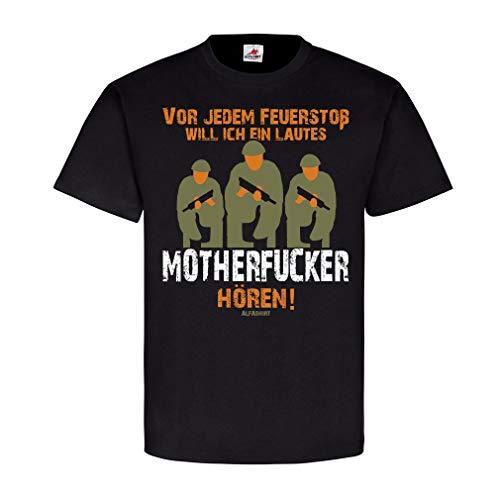 Copytec Bundeswehr Motherfucker Schützenscheibe Video Maschinengewehr Humor Fun #22508, Größe:M, Farbe:Schwarz