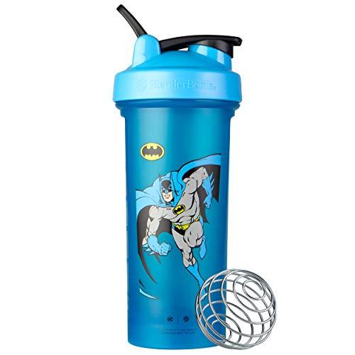 BlenderBottle Justice League Superhero Classic V2 Shaker Bottle, 28-Ounce, Retro Batman