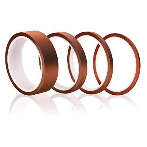 Elegoo 4x Klebeband 3D Drucker Hitzebeständiges Tape Polyimid Elektronik Isolierband 33M Bandlänge