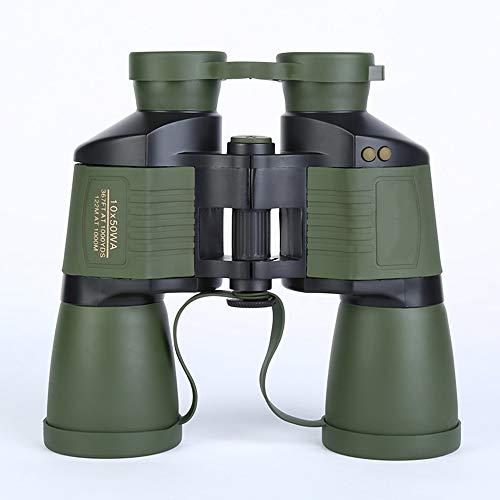 DKEE 10X50 High-Definition-Fernglas Adult Outdoor Travel Low-Light-Nachtsicht-Autofokus-Teleskop Leben Wasserdicht Grün 190 * 65 * 185mm