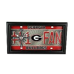 Good Tymes Enterprises, Inc. NCAA Georgia Bulldogs Number 1 Fan License Plate Mantel or Wall Clock