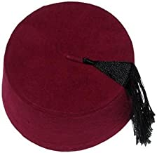 Authentic Ottoman Turkish Fez Fes Doctor Who Hat Tassel - Large