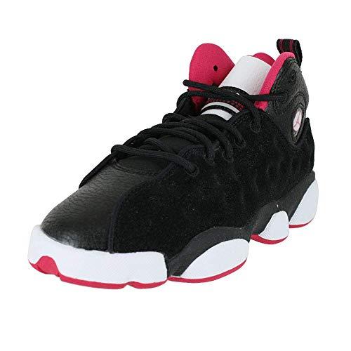 Jordan Nike Kids Jumpman Team II GG Black/Rush Pink White Basketball Shoe 5.5 Kids US