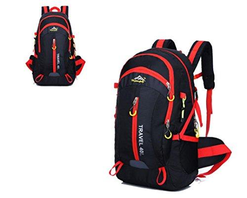 Nouveau voyage sac à dos Sacs bandoulière plein air sacs 40L alpinisme imperméable à l'eau , black