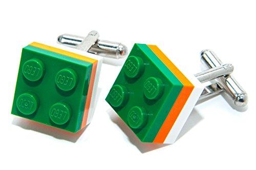 Jeff Jeffers Lego Boutons de Manchette en Lego Motif Drapeau Olympique Irlandais
