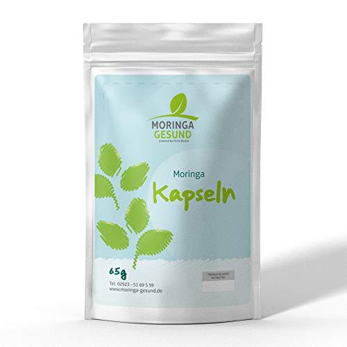 Moringa oleifera 500mg Kapseln - Hochdosiert und aus reinstem natürlichen Moringa Olifera Blattpulver gepresst - Umzogen von Akazienharz - Vegan - Glutenfrei - Gentechnikfrei