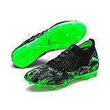 Puma Future 19.2 Netfit FG/AG, Chaussures de Football Homme, Noir Black-Charcoal Gray-Green Gecko, 46 EU
