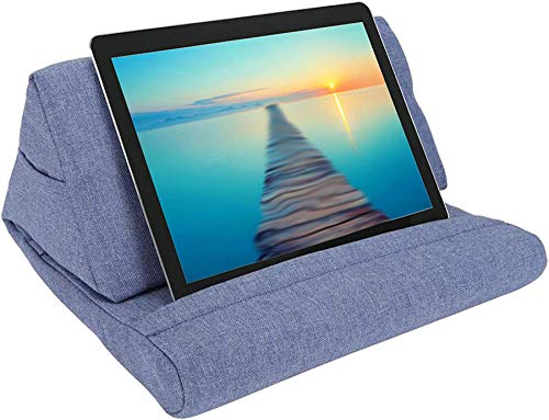 Kengsiren Pillow Stand Tablet Pillow Holder Soft Pillow Lap Stand for Tablet,Hands Free | Great for E-Readers & Smartphones, Magazines, Books for 12.6',Blue