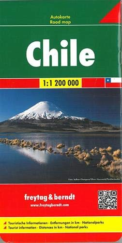 Chile, Autokarte 1:1,2 Mio.: Wegenkaart 1:1 200 000 (freytag & berndt Auto + Freizeitkarten)