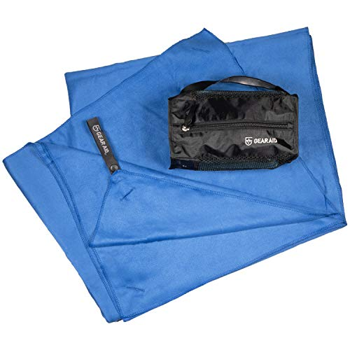 """Gear Aid Quick Dry Microfiber Towel for The Gym, Travel and Camping, Cobalt, X-Large, 35""""x62"""""""