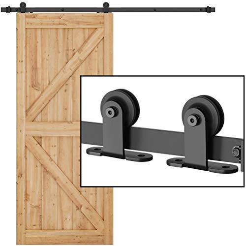 6.6ft Single Barn Door Hardware Kit, Dedoot Heavy Duty Sliding Door Rail, Fit 36'-40' Wide Door Panel, Smoothly and Quietly, Easy to Install (T Shape)