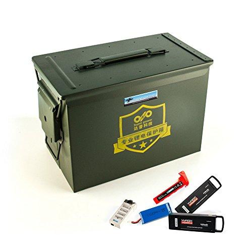 DROHNENSTORE24.DE ...DER DROHNEN-GURU DS24 Sicherheits Transportkoffer für LiPo Akkus - Koffer für Lithium-Polymer-Akkus